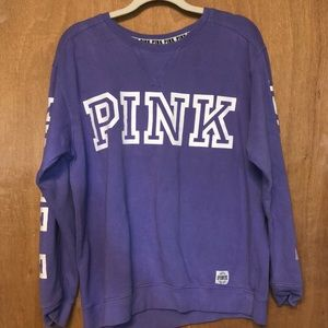 PINK crew neck size Large